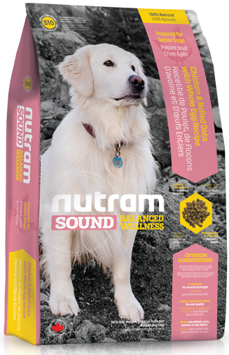 S10 Nutram Sound Balanced Wellness® Senior Natural Dog Food За кучета над 8 години