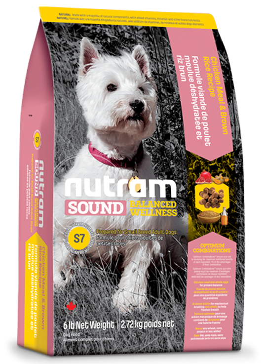 S7 Nutram Sound Balanced Wellness® Small Breed Adult Natural Dog Food