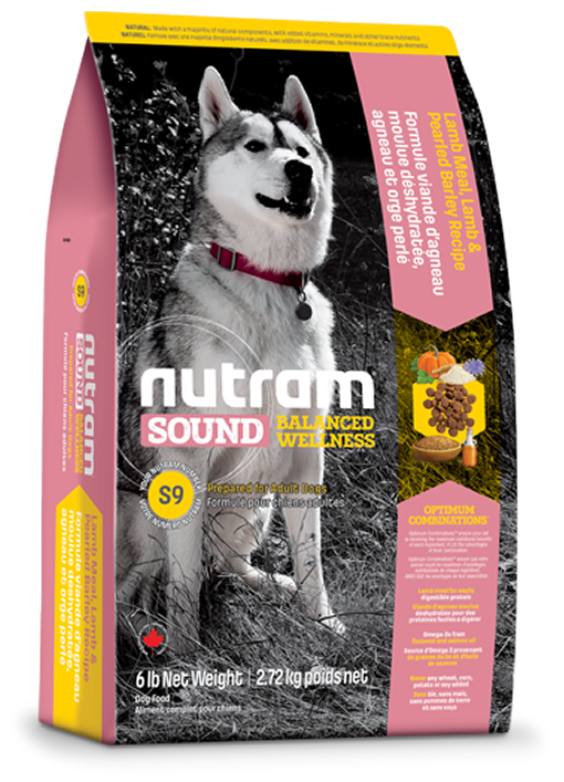 S9 Nutram Sound Balanced Wellness® Adult Lamb Natural Dog Food За кучета от 1 до 10 години